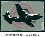 Vector Grungy Cargo Plane