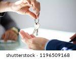 close up of an estate agent's... | Shutterstock . vector #1196509168