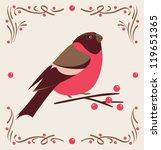 vector bullfinch | Shutterstock .eps vector #119651365