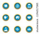 ottoman icons set. flat set of...   Shutterstock .eps vector #1196517385