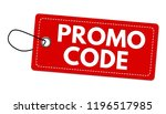 promo code label or price tag... | Shutterstock .eps vector #1196517985
