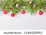 holiday border with christmas... | Shutterstock . vector #1196520952