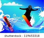 snowboarder background | Shutterstock .eps vector #119653318