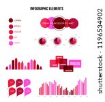 infographic elements  annual... | Shutterstock .eps vector #1196534902