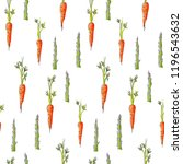 seamless pattern with carrots... | Shutterstock .eps vector #1196543632