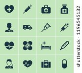 drug icons set with heart ... | Shutterstock .eps vector #1196545132