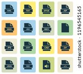 file icons set with java  zip ... | Shutterstock .eps vector #1196545165