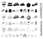 event organisation cartoon... | Shutterstock .eps vector #1196550175