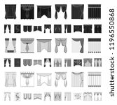different kinds of curtains... | Shutterstock .eps vector #1196550868