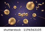 happy new year 2019 background... | Shutterstock .eps vector #1196563105