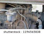 Old Diesel Engine. The Interio...