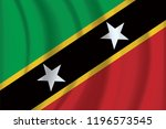 vector saint kitts and nevis... | Shutterstock .eps vector #1196573545