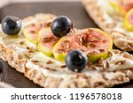 canape or crostini with... | Shutterstock . vector #1196578018