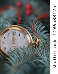 vintage pocket watch showing... | Shutterstock . vector #1196588125