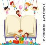 vector illustration of school... | Shutterstock .eps vector #1196590915