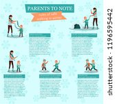 infographics for parents.... | Shutterstock .eps vector #1196595442