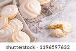 portuguese sweets cavacas on... | Shutterstock . vector #1196597632