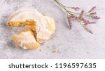 portuguese sweets cavacas on... | Shutterstock . vector #1196597635