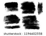 vector set of hand drawn brush... | Shutterstock .eps vector #1196602558