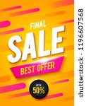 vector illustration final sale... | Shutterstock .eps vector #1196607568
