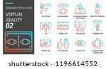 gradient style icon pack for... | Shutterstock .eps vector #1196614552