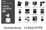 solid outline icon pack for... | Shutterstock .eps vector #1196614798
