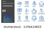 gradient style icon pack for... | Shutterstock .eps vector #1196614825