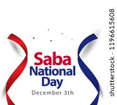 saba national day vector... | Shutterstock .eps vector #1196615608
