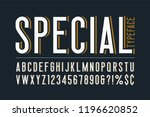 trendy vintage display font... | Shutterstock .eps vector #1196620852