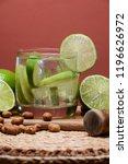 typical brazilian drink ... | Shutterstock . vector #1196626972