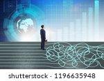 business concept of uncertainty ...   Shutterstock . vector #1196635948