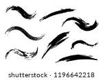 set of grunge brush strokes | Shutterstock .eps vector #1196642218