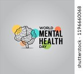 world mental health day design... | Shutterstock .eps vector #1196660068