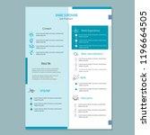 modern cv resume template vector | Shutterstock .eps vector #1196664505