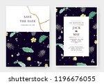 botanical wedding invitation...   Shutterstock .eps vector #1196676055