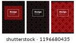 dark blue  red vector brochure...