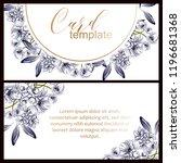 vintage delicate greeting...   Shutterstock .eps vector #1196681368