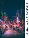 kobe   aug  18 2018  night life ...   Shutterstock . vector #1196683465