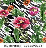 seamless background with... | Shutterstock .eps vector #1196690335