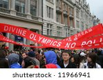 Pro Chinese Protest In London...