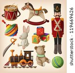 set of colorful vintage... | Shutterstock .eps vector #119669626