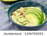 avocado yogurt or blended...   Shutterstock . vector #1196703352