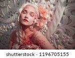 young beautiful girl elf.... | Shutterstock . vector #1196705155