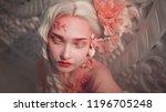 young beautiful girl elf.... | Shutterstock . vector #1196705248