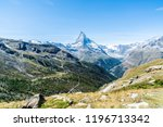 beautiful mountain landscape... | Shutterstock . vector #1196713342