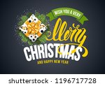 merry christmas and happy new... | Shutterstock .eps vector #1196717728