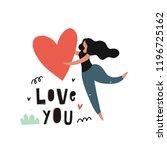 valentine's day vector... | Shutterstock .eps vector #1196725162