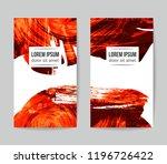 set of vector business card... | Shutterstock .eps vector #1196726422
