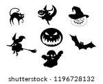 halloween silhouette  halloween ... | Shutterstock .eps vector #1196728132
