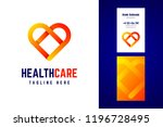 health care logo and business... | Shutterstock .eps vector #1196728495